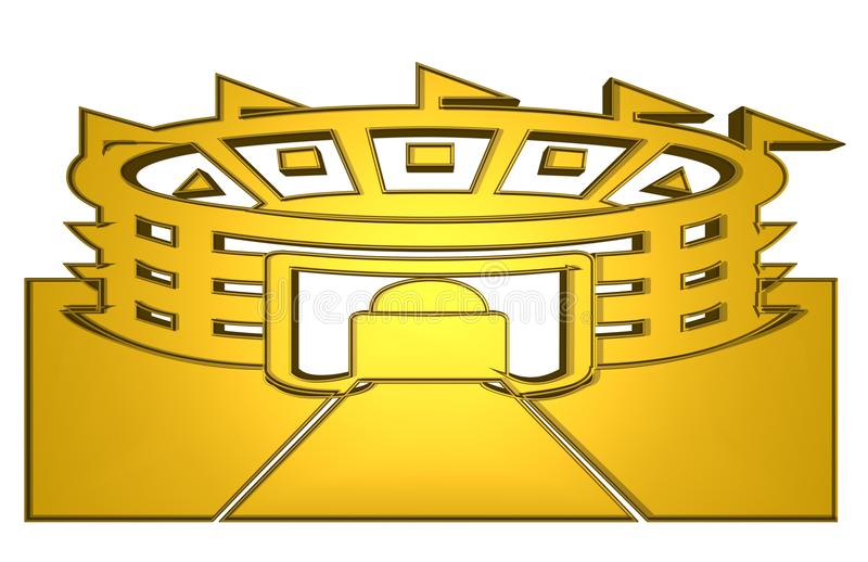 Golden Stadium for icon and symbol royalty free illustration