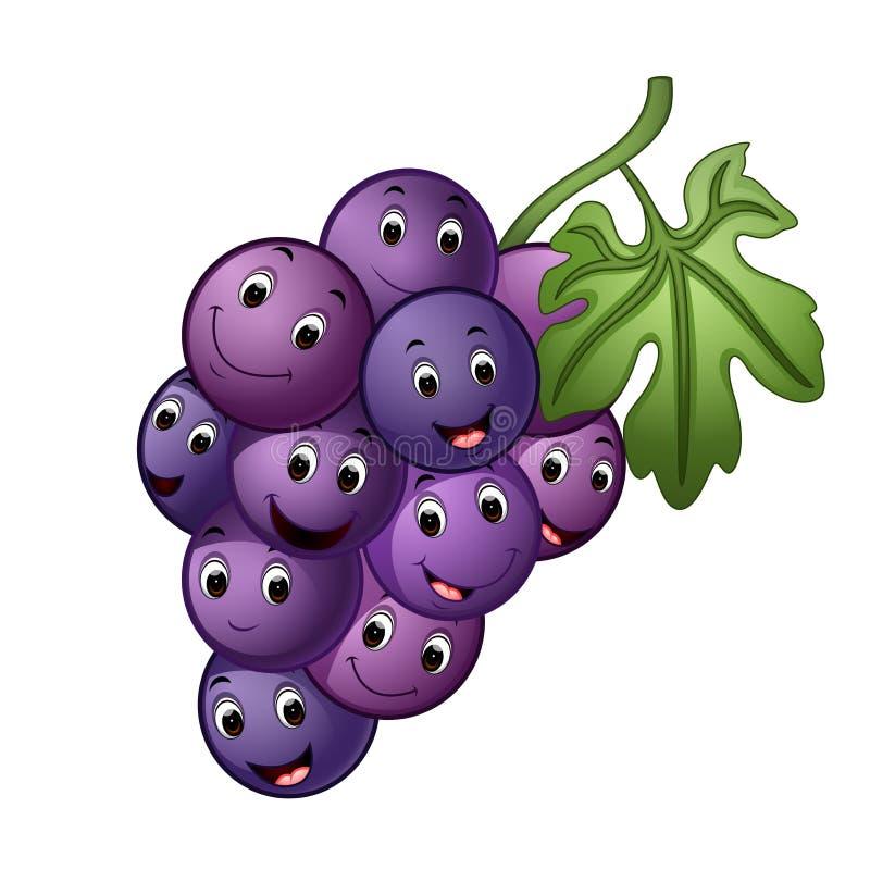 Banana Character Logo Template: Happy Face Grape Mascot Stock Vector. Illustration Of Icon