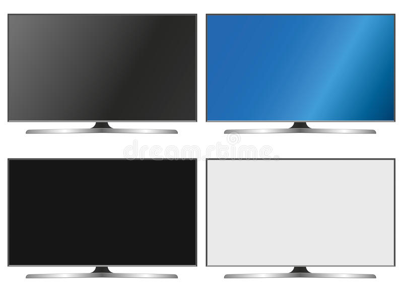 Illustration Graphic Vector Flatscreen with Copyspace stock illustration