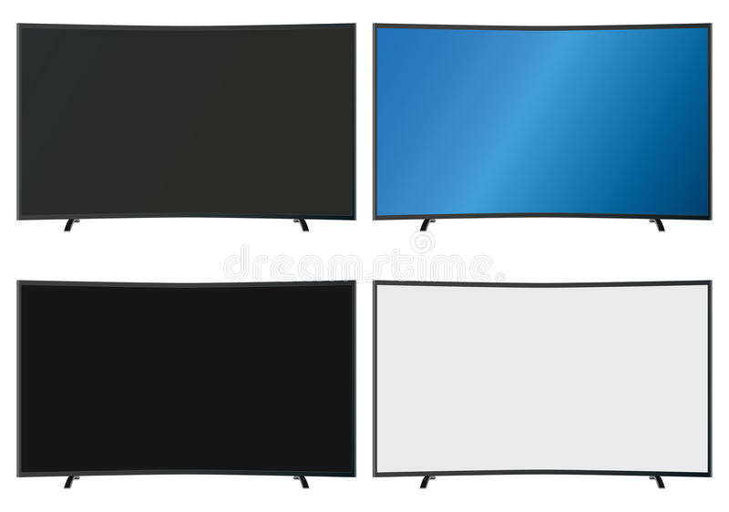 Illustration Graphic Vector Flatscreen with Copyspace vector illustration