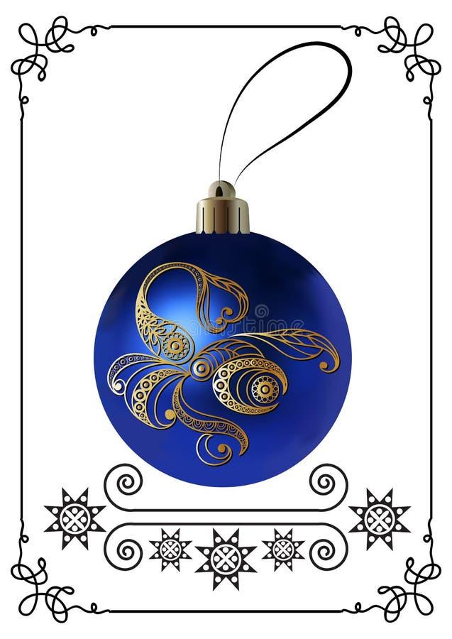 Illustration graphique avec la décoration 20 de Noël illustration stock