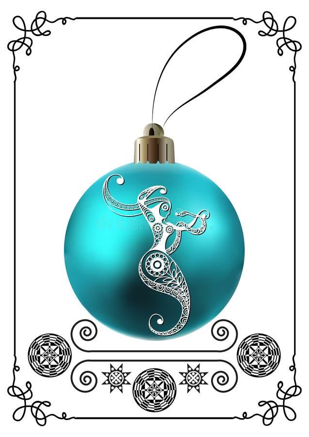 Illustration graphique avec la décoration 34 de Noël illustration stock