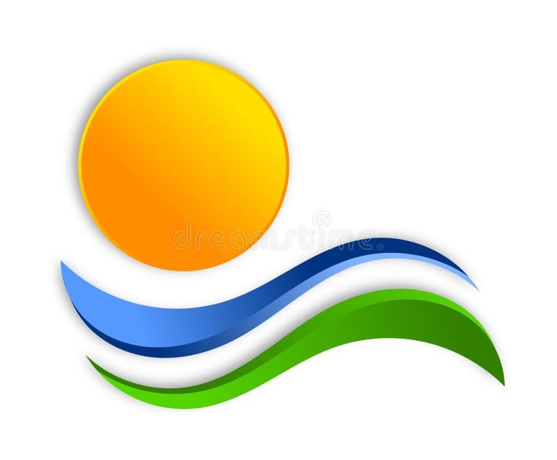 Conception de logo de Sun photos libres de droits