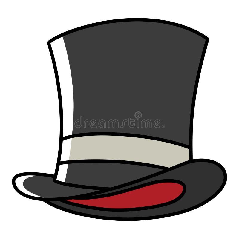Illustration graphique d'un chapeau de magicien illustration libre de droits