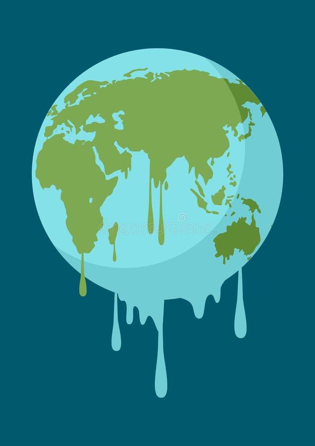Illustration graphique d'une terre de fonte illustration libre de droits