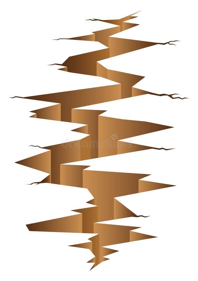 Illustration graphique de terre de fente illustration de vecteur