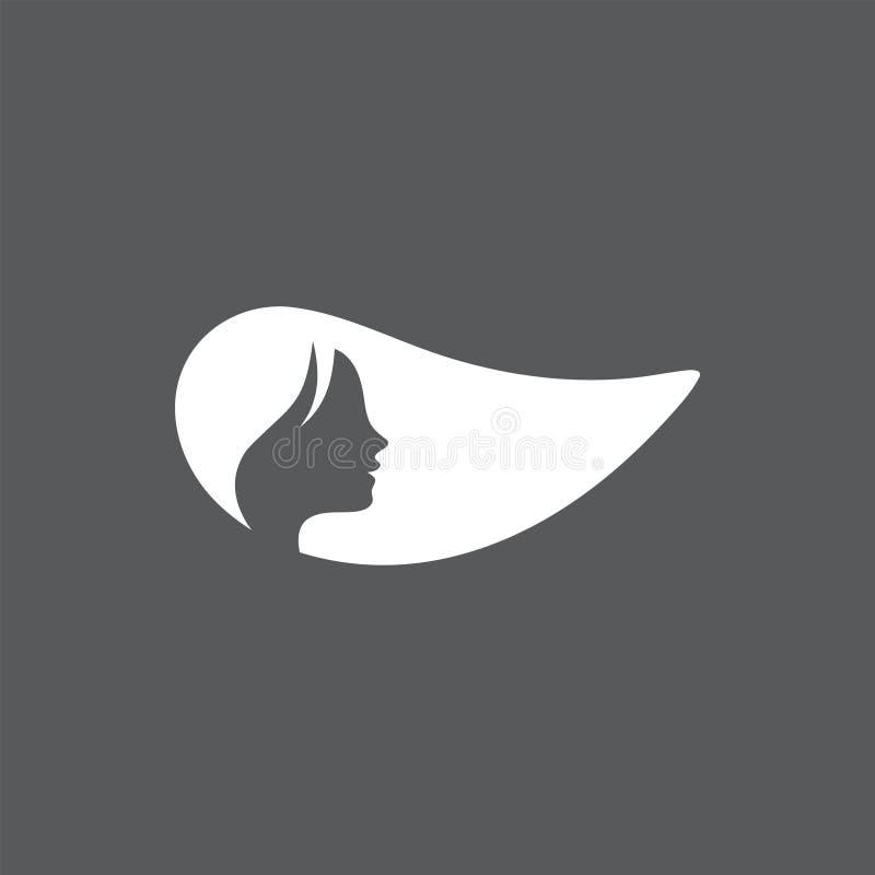 Illustration graphique de vecteur de calibre de conception d'icône de femme illustration de vecteur