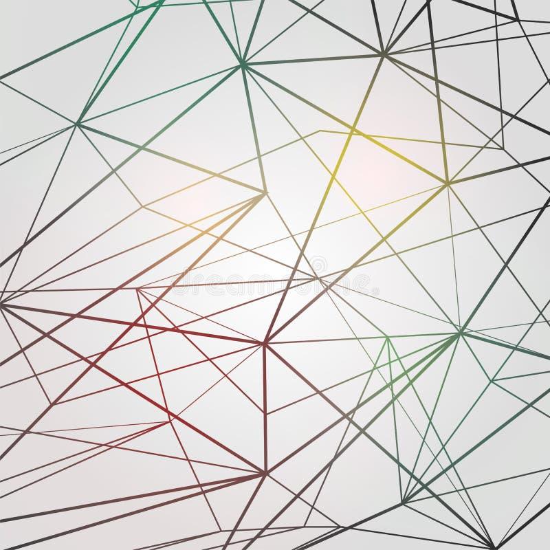 Illustration graphique de vecteur de fond de modèle triangulaire abstrait géométrique de forme illustration stock