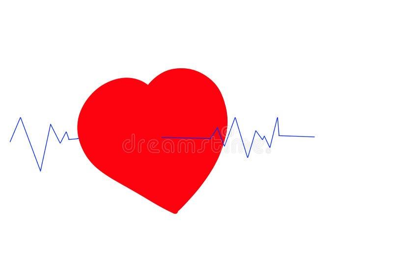 Illustration graphique des battements de coeur illustration stock