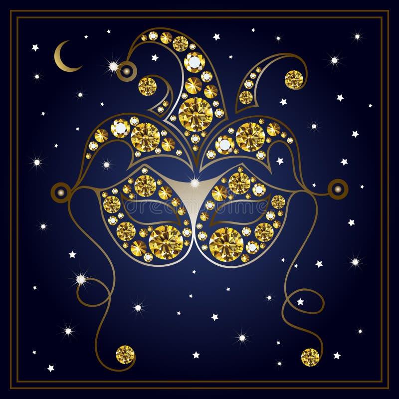 Download Illustration Graphique Du Masque Avec Les Diamants 25 Illustration de Vecteur - Illustration du accessoire, mode: 87709332
