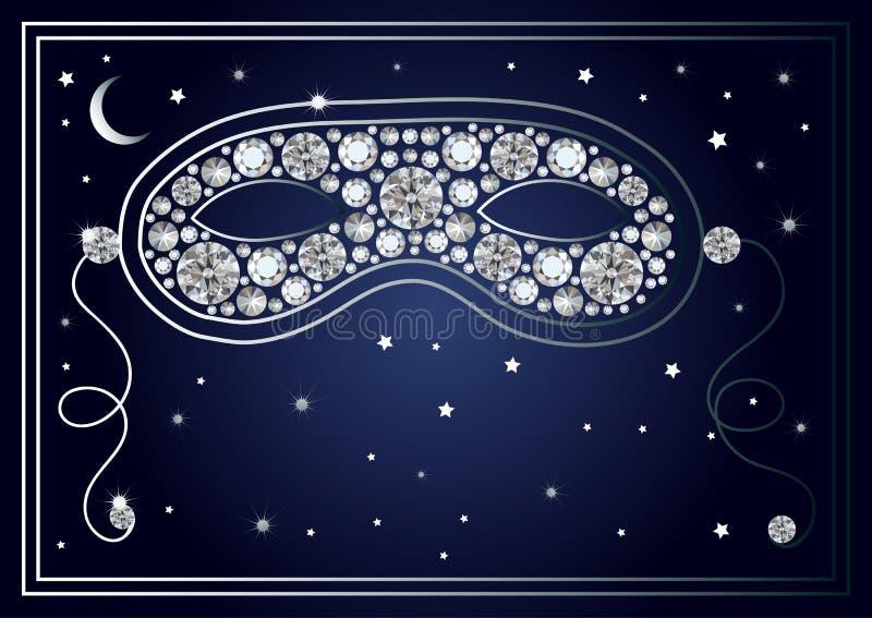 Download Illustration Graphique Du Masque Avec Les Diamants 40 Illustration de Vecteur - Illustration du illustration, divertissement: 87709425