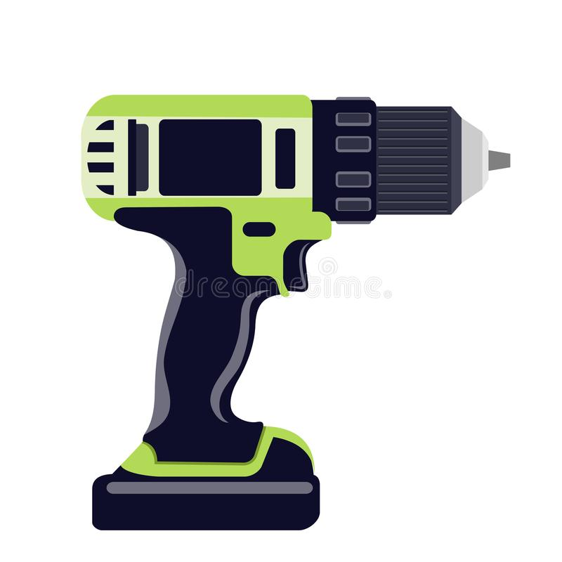 Electric Drill Stock Vector. Illustration Of Carpenter