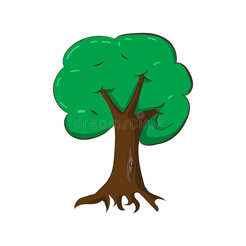 Illustration of a green tree. stock images