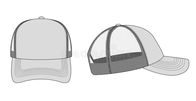 Illustration / gris du capuchon de camion , du gabarit de bouchon de filet illustration stock