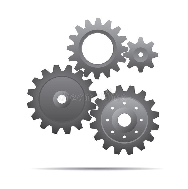 Illustration grise d'icône de pignons Illustration de vecteur illustration libre de droits
