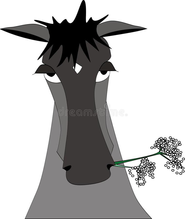 Illustration grise de cheval illustration stock