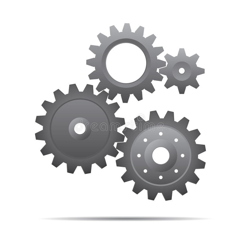 Illustration grise des pignons Illustration de vecteur illustration de vecteur