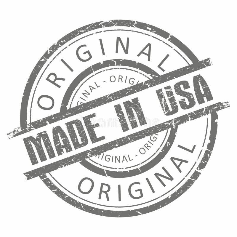 Illustration grise grunge de tampon en caoutchouc D'isolement sur le blanc image stock