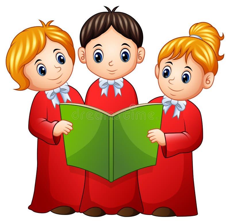 Group of children choir vector illustration