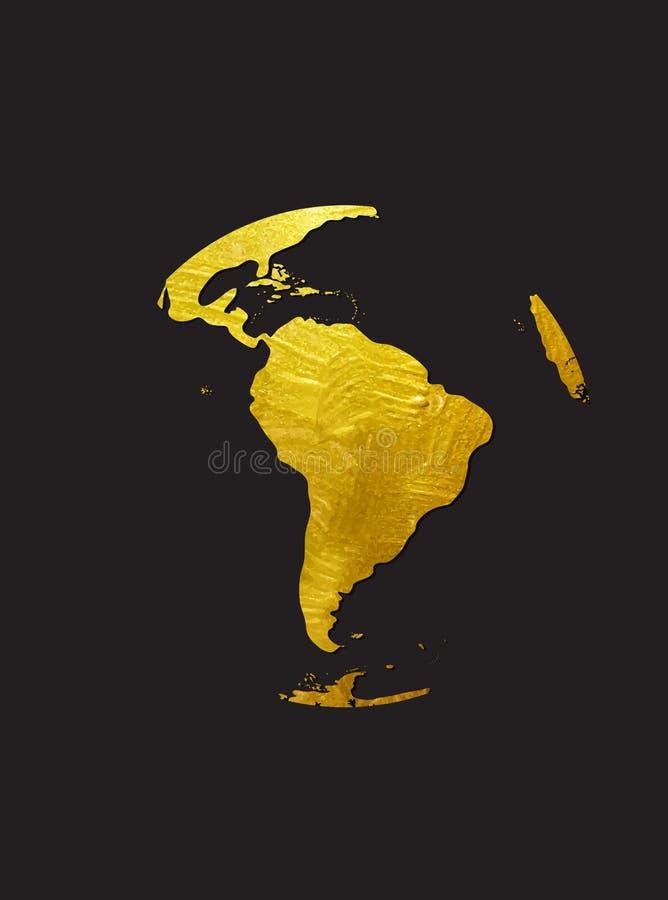 Illustration grunge d'or de vecteur d'icône de globe illustration stock