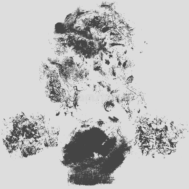 Illustration grunge de vecteur de fond de texture de hachure approximative illustration de vecteur