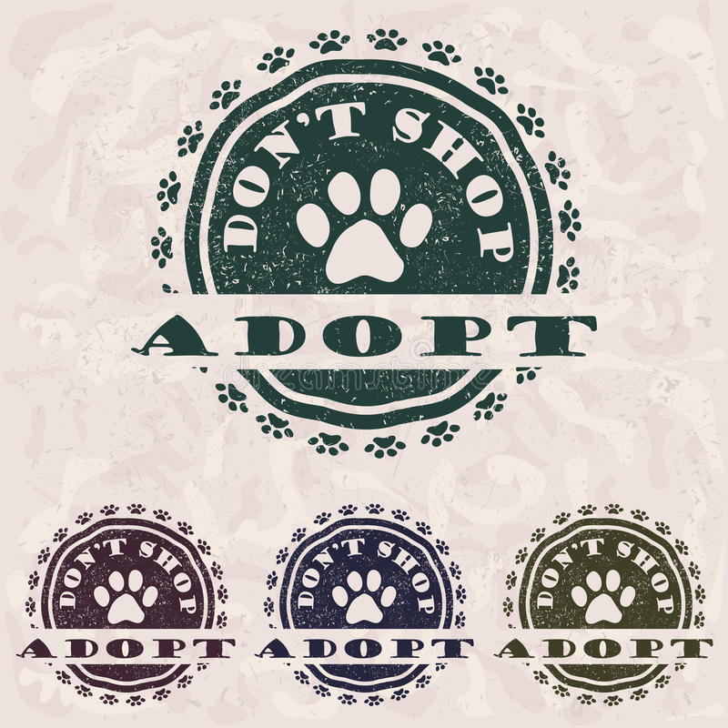 Adopt don't shop stock illustration