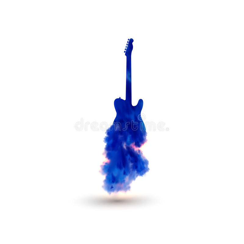 Illustration of guitar vector illustration