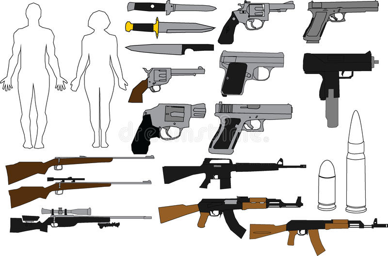 Download Illustration Guns And Rifles Stock Vector - Illustration of guard, handgun: 88093786