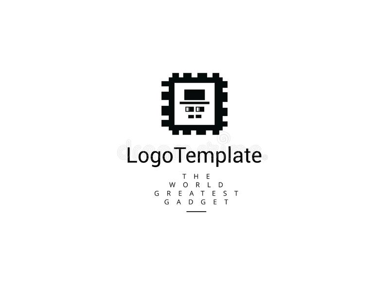 Mr technology logo template royalty free illustration