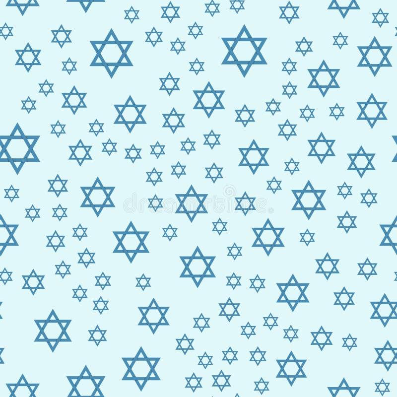 Illustration hébreue de vecteur de juif de modèle d'église de judaïsme de Hanoucca de pâque religieuse sans couture traditionnell illustration stock