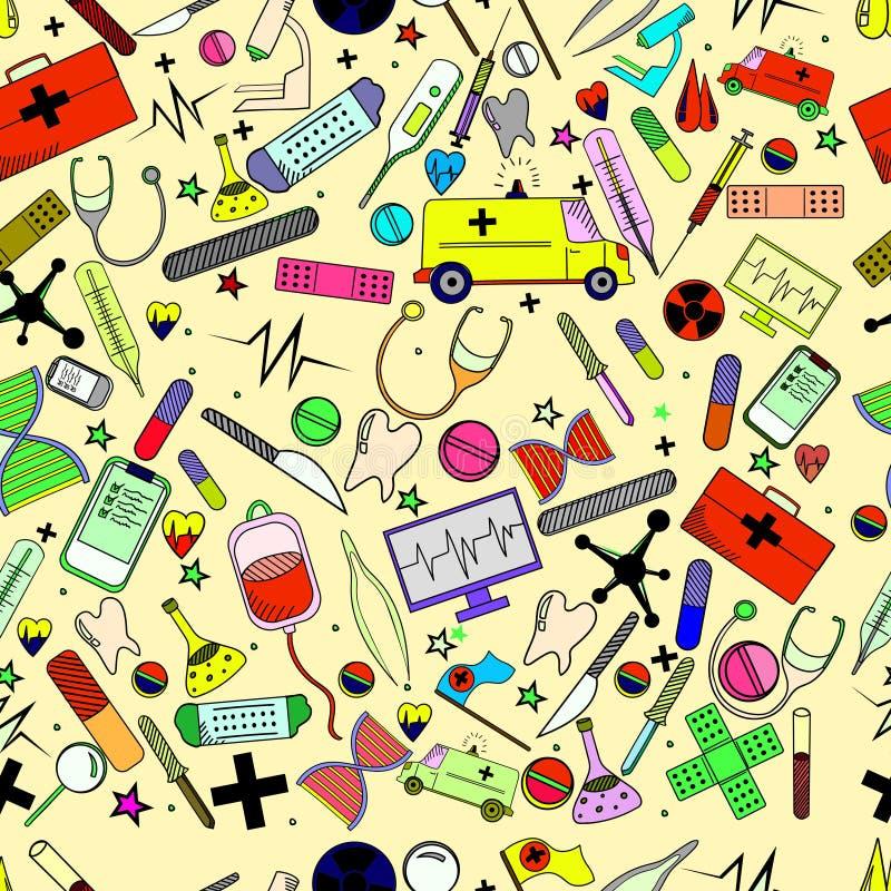 Illustration hôpital de vecteur de conception de schéma illustration libre de droits