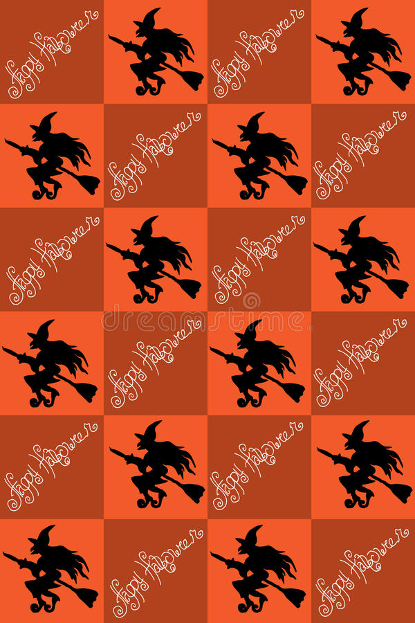 Illustration of Halloween. Drawing with witches. Seamless pattern. Happy Holidays. Illustration of Halloween. Drawing with witches. Seamless pattern. Happy vector illustration