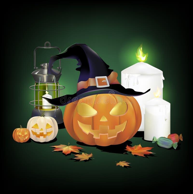 Illustration of Halloween graphic design stock illustration