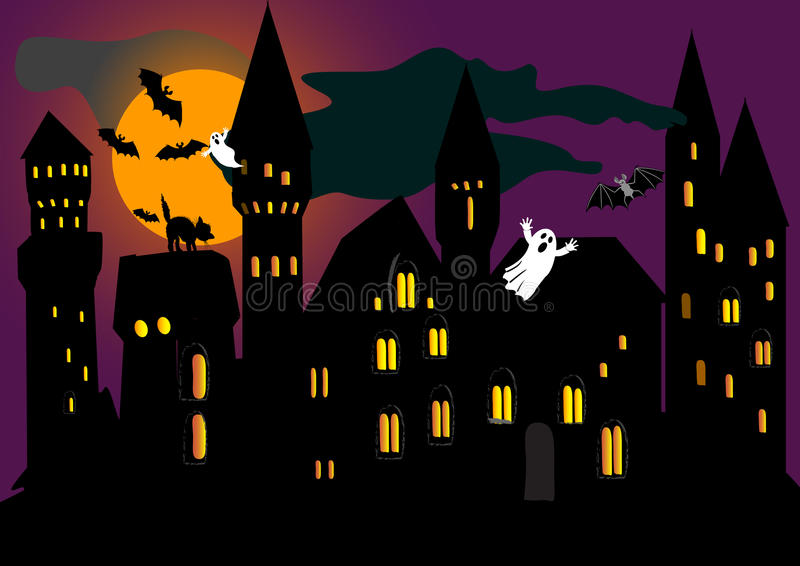 Download Illustration For Halloween Holiday. Vector. Stock Vector - Image: 16363521