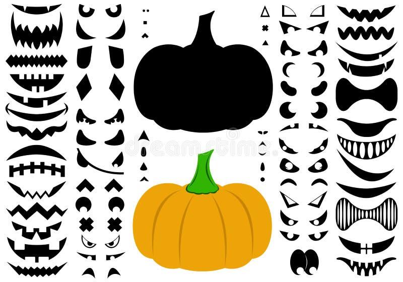 Illustration Of Halloween Pumpkins stock illustration