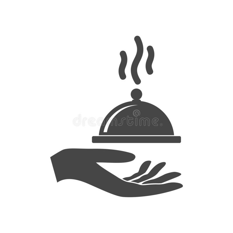 Illustration of a hand offering food cover royalty free illustration