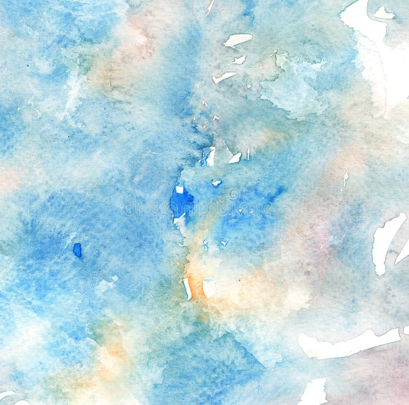 Illustration of hand painted Background in watercolor style. royalty free stock photography