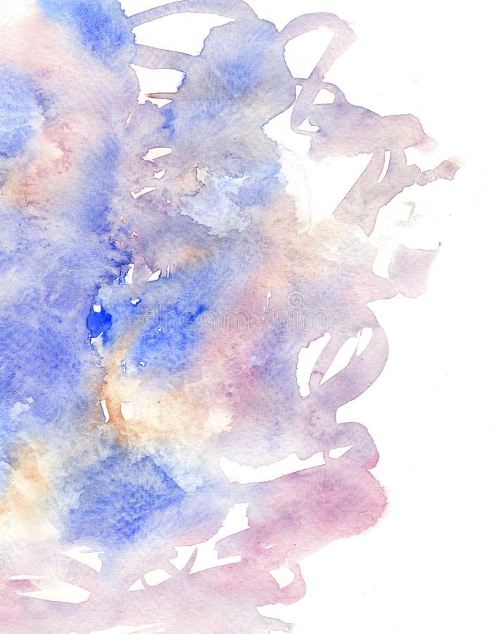Illustration of hand painted Background in watercolor style. stock photography