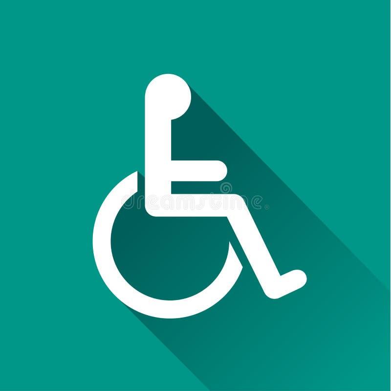 Handicap design icon. Illustration of handicap design icon with shadow stock illustration