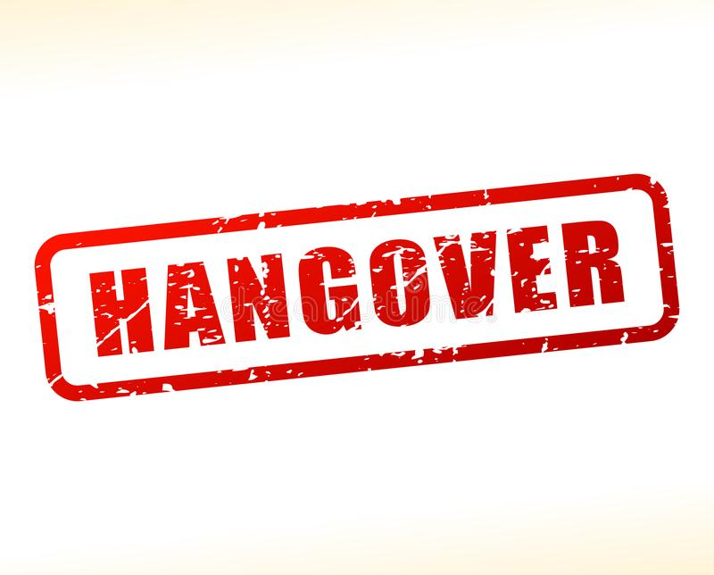 Hangover text buffered. Illustration of hangover text buffered on white background stock illustration