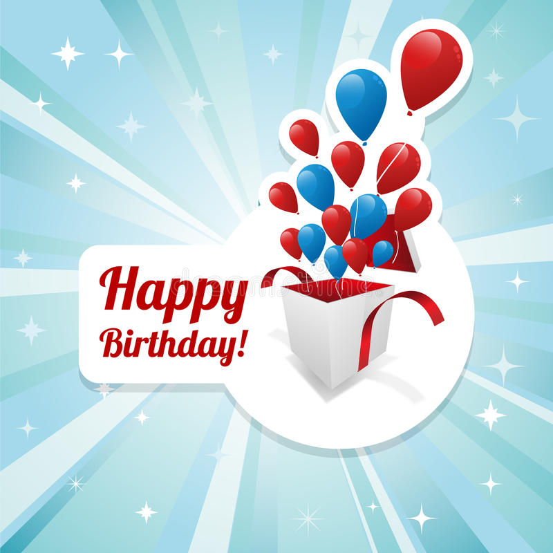 Download Illustration For Happy Birthday Card Stock Vector - Image: 21999662