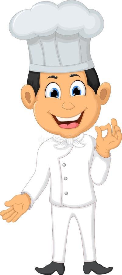 Happy chef cartoon Smile For you design. Illustration of Happy chef cartoon Smile For you design vector illustration