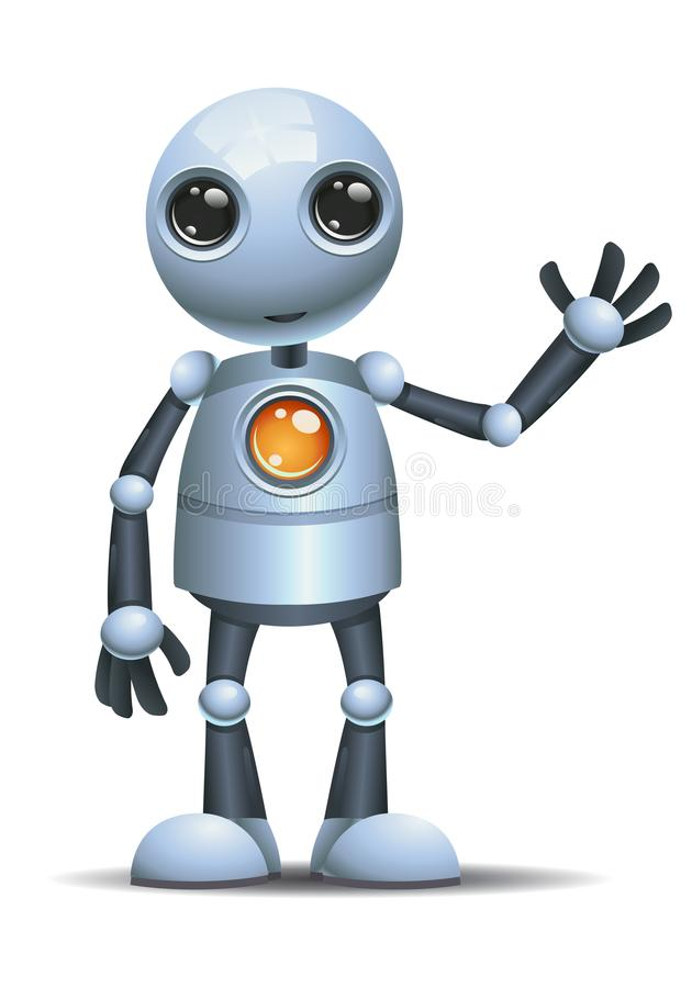 Little robot hi five stock illustration