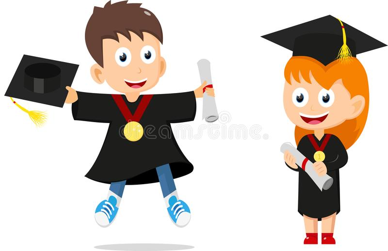 Cute Happy kids cartoon collection set stock photo