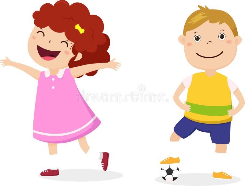Happy kids cartoon design illustration stock illustration
