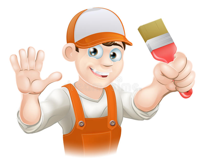 Painter And Decorator Prices >> Painter or decorator man stock vector. Illustration of contractor - 29725878