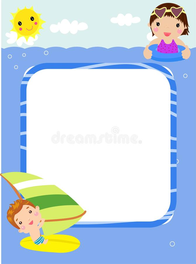 Happy summer and children royalty free stock image