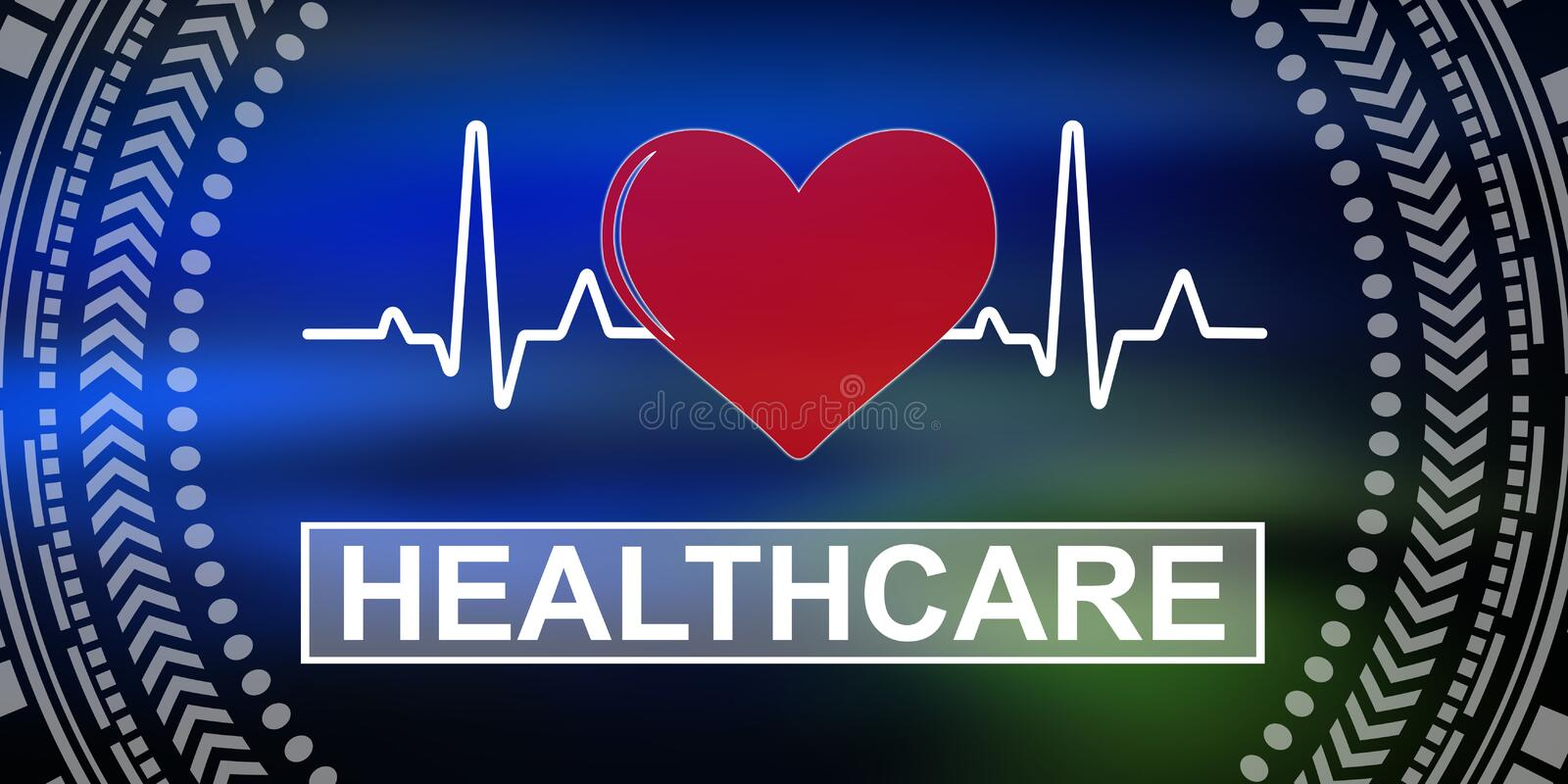 Concept of healthcare royalty free illustration