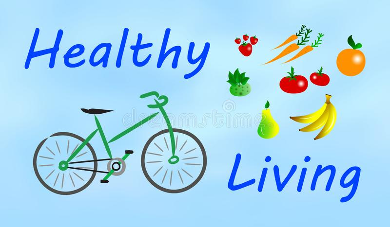 Concept of healthy living stock illustration