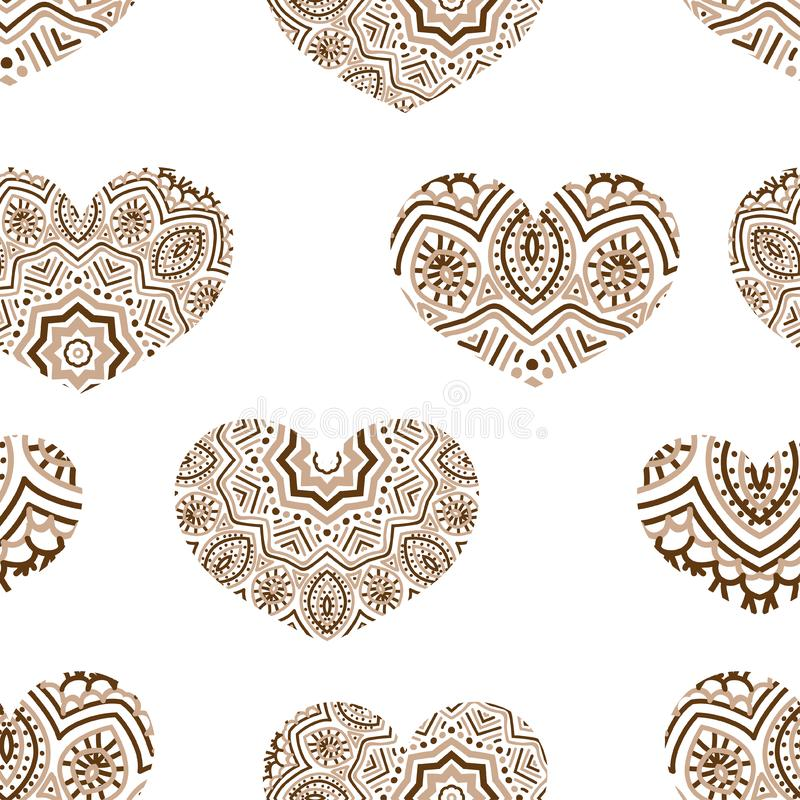 Illustration of a heart and ornament stock illustration